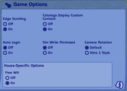 The Sims 2 Game Options