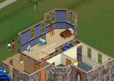 Goth home The Sims 1 second floor