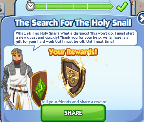 File:The Sims Social - Medieval Week - The Holy Snail Complete.png