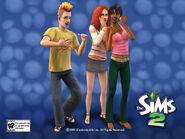 Sims 2 Red unused hair
