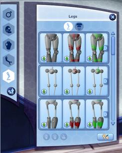Create-A-Bot Legs