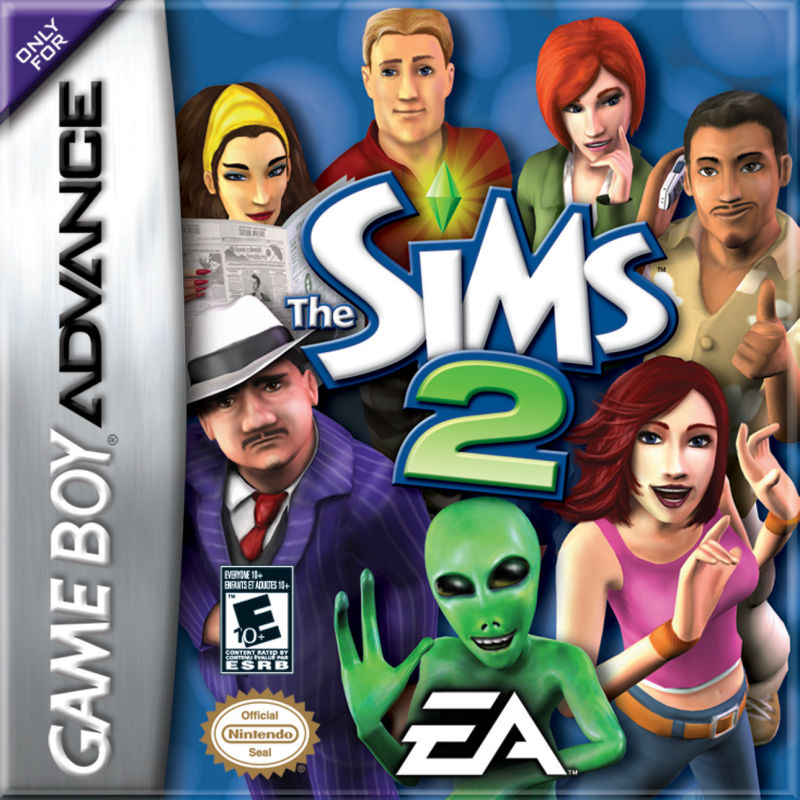 The Sims 2 GBA box artwork