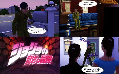 Sims 3 JJBA