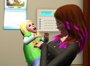 Nia toddler and her mom