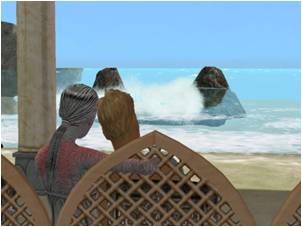 Scoria and Mitchell Aridia on honeymoon