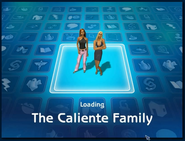 Loading screen of Caliente family