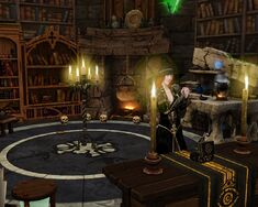 Sorceress in Wizard's tower