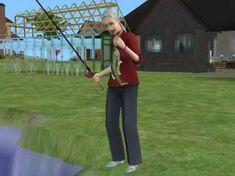 Grandma fishing