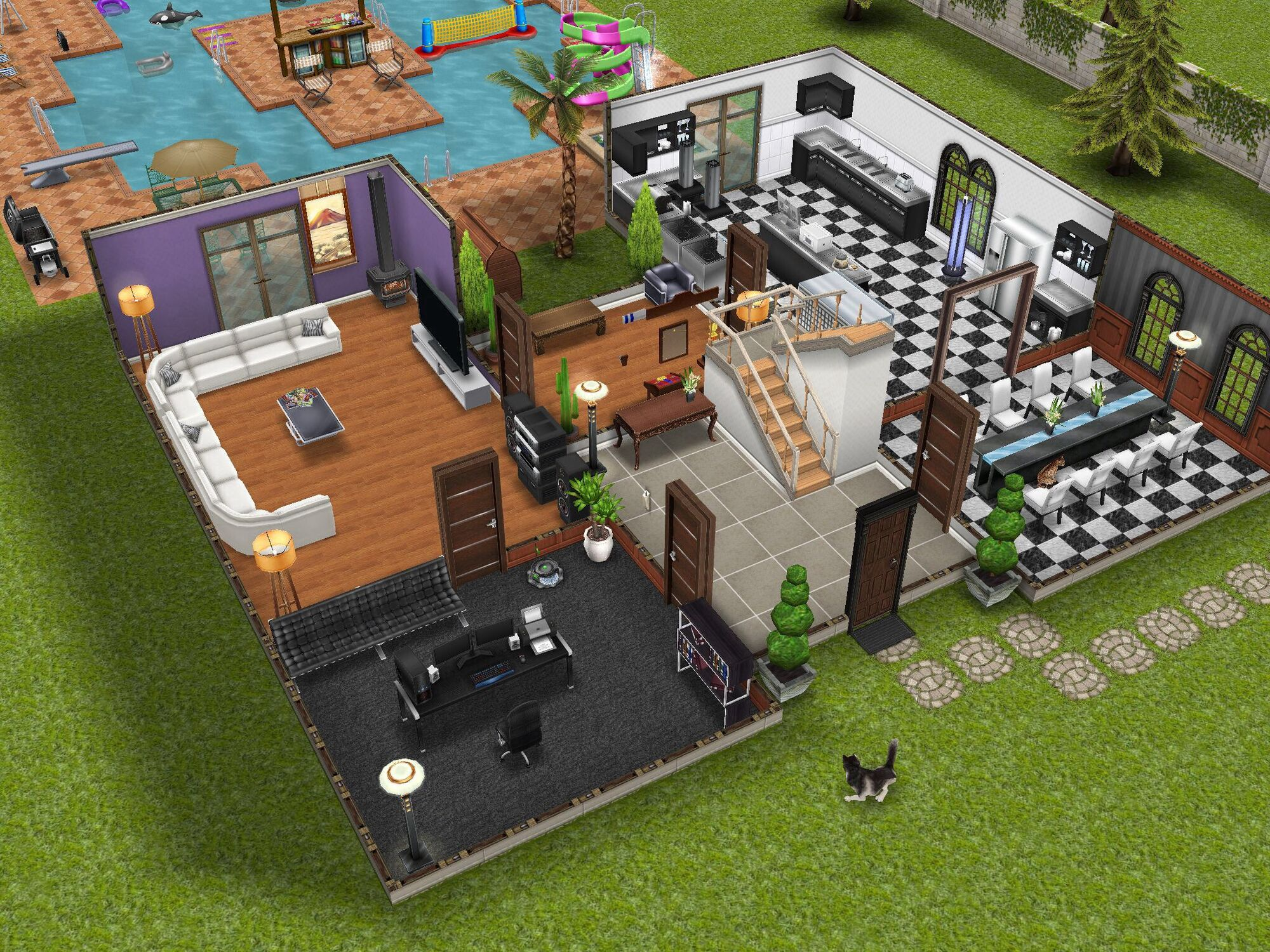 Beautiful Sims Freeplay Homes Designs Photos - Decorating House ...