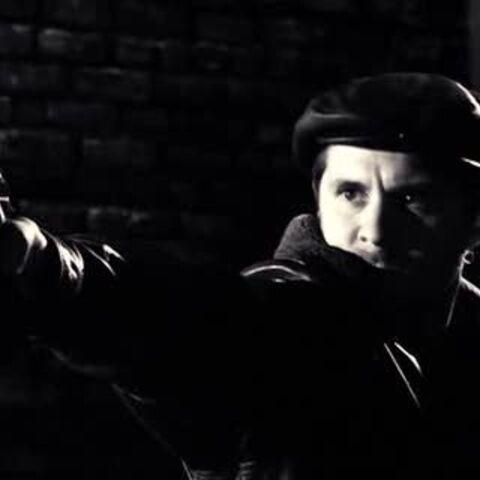Klump with the gun.