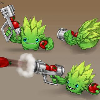 Ilustración con el diseño final de Food Fight.