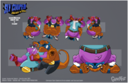 Sly 4 production art luchador lizard by tigerhawk01-d6gsjiz