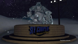 Sly 4 ice sculpture