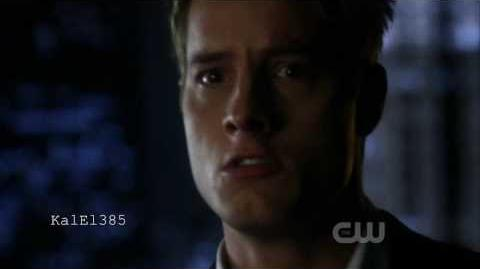 Smallville - Ollie looking in the 'mirror and seeing Lex