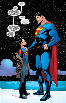 Superman superboy-Clark and Jon
