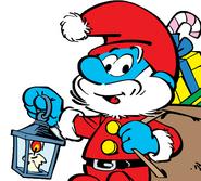 Papa Smurf as Santa