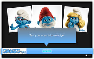 Smurfs quiz invite