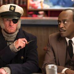 Mr. Poe with Captain Sham.