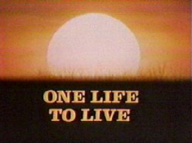 One Life to Live 1973 title card