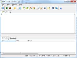 DC++ 0.75-Windows