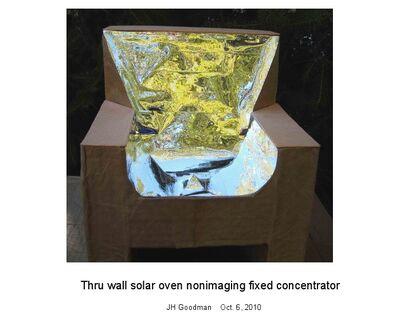 Goodman, Thru wall solar oven nonimaging fixed concentrator