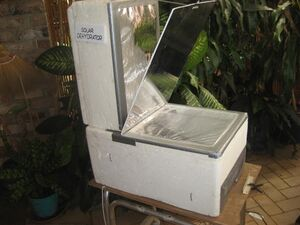 Solar dehydrator side, Sizzling Solar Systems, 11-13-12