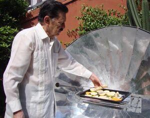 Martin Almada cooking bananas, 3-6-14