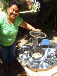 Solar pot lady