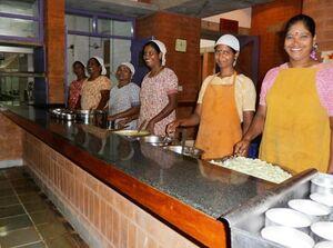 Auroville Solar Kitchen staff