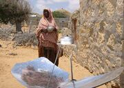 Somalia woman with cooker