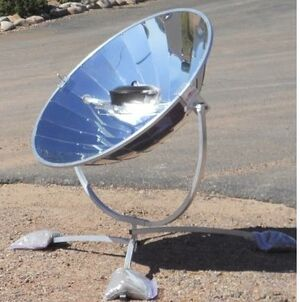 SunPower parabolic cooker, 7-18-13