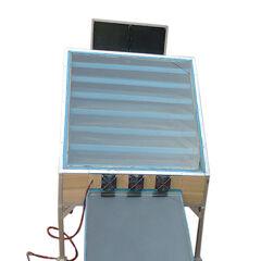 Front view showing ventilation fans.