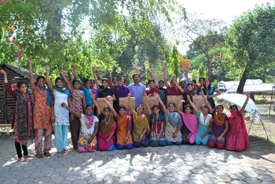 Solar cooker training - Barli Institute - May 2013