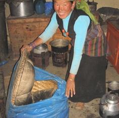 Heat-retention basket used in Nepal, 2-11-13