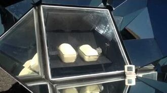 Solar cooking French bread in time lapse video.
