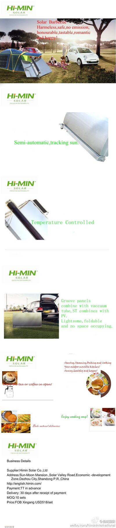 Himin solar barbecue