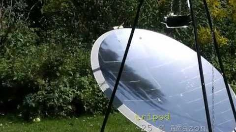 Solar cooking How to build a solar cooker from a satellite dish