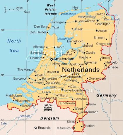 Map Netherlands, 8-25-15