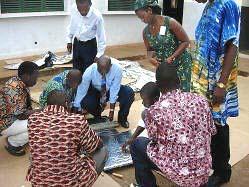 Vincent Nnanna demonstrates