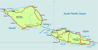Samoa Country map