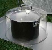 Polycarbonate pot cover