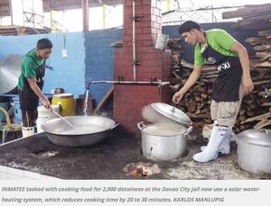 Davao City Jail solar hot water, 5-27-15