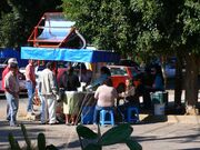 First day of operation- Solar taco stand in Oaxaca, Mex