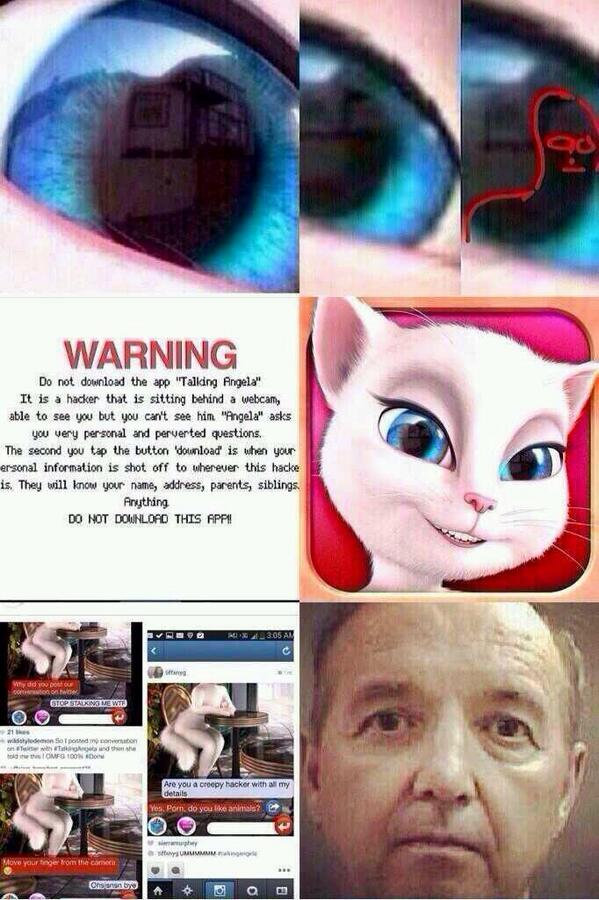 My Talking Angela Stalker