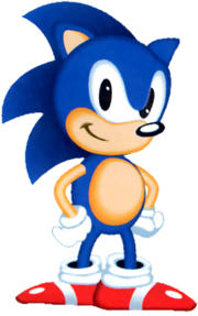 Sonic US Artwork Unshaded