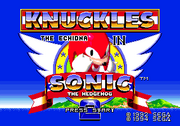 Title Screen Knuckles in Sonic 2