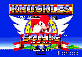 File:Title Screen Knuckles in Sonic 2.png