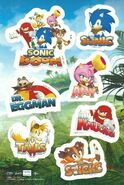 Sonic Boom Sticker Sheet