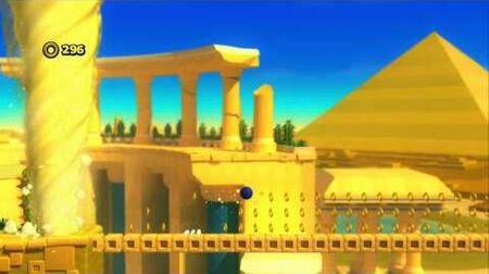 Sonic Lost World Wii U Playthrough - Desert Ruins Zone 4