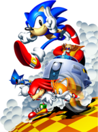 Sonic and Tails, Knuckles, Robotnik and Metal Sonic